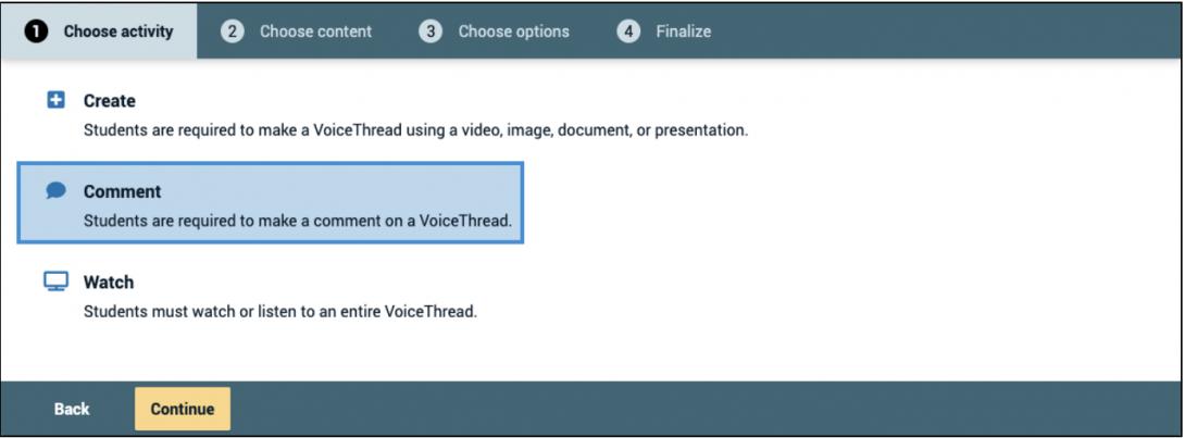 Create Activity Screenshot