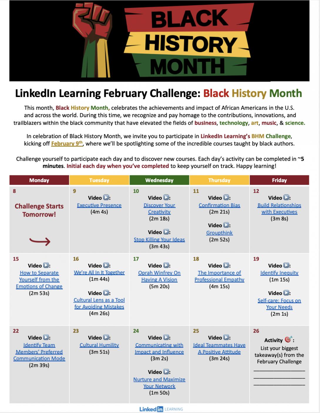 LinkedIn Learning February Challenge