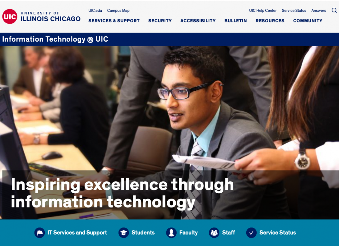 IT at UIC website