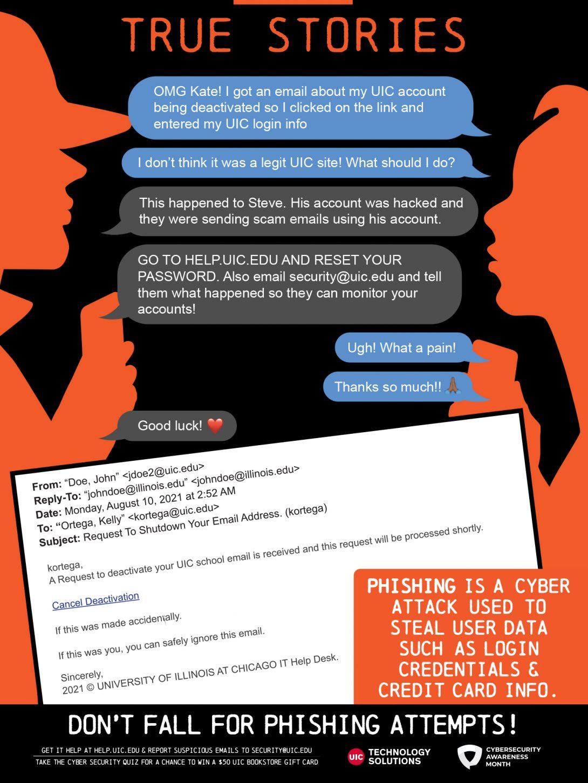 NCSAM 2021: Week 1 Phishing poster