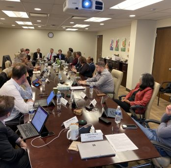 ACCC and CAUDIT representatives meet at UIC BGRC to discuss UIC's advances in cybersecurity and more.