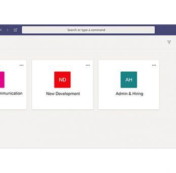 Microsoft Teams Workspace Screenshot