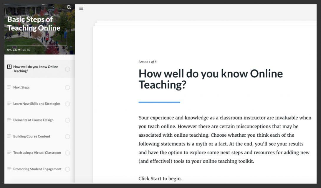 Basic Steps of Teaching Online Tutorial