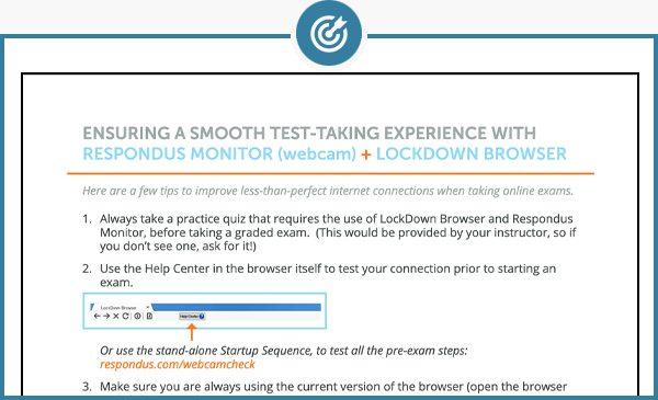 Respondus test taking tips