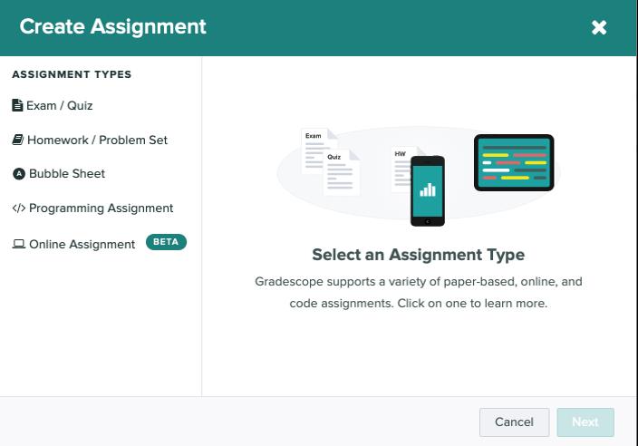 Create Assignment